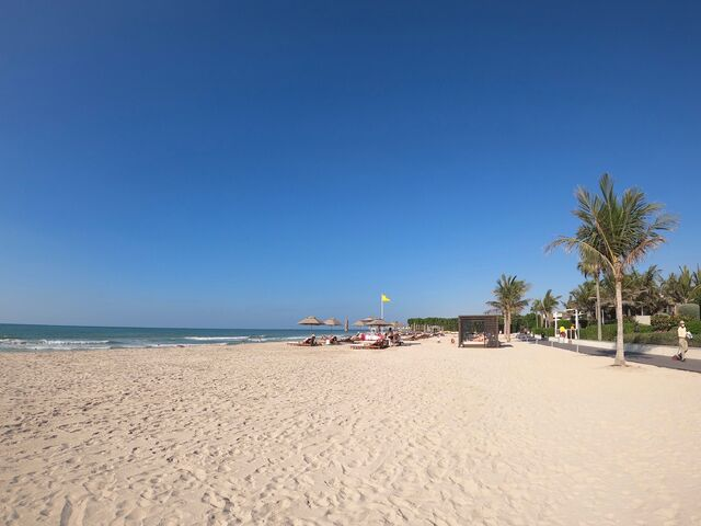 Pláž hotela hilton ras al khaimah