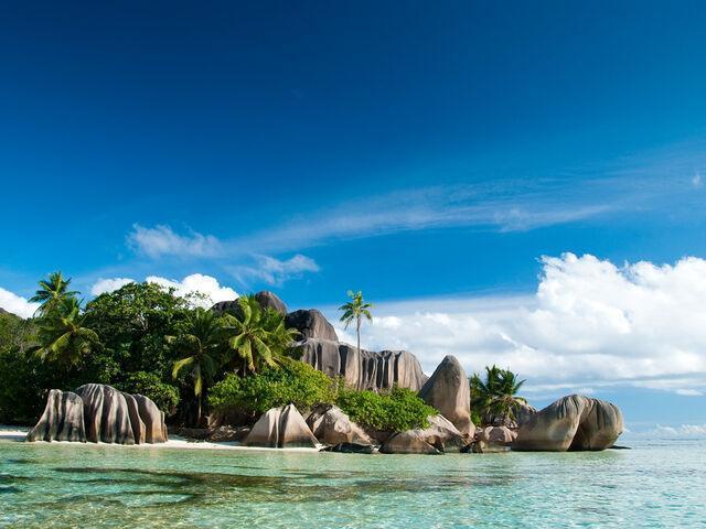 Zeleň Anse Source Seychely