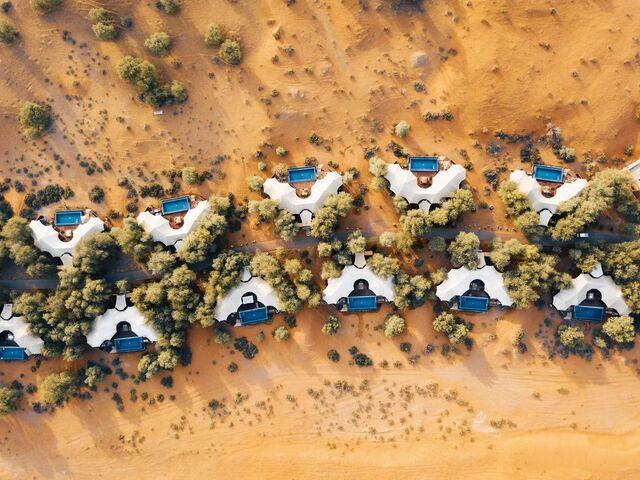 Pohľad na ubytovanie v púšti