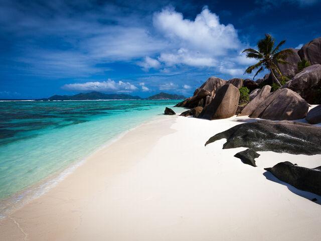 Anse Source na  Seychelách