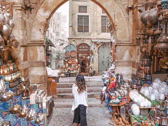 Trh v káhire v egypte