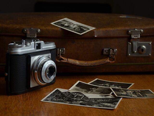 Stary fotoaparat a fotky