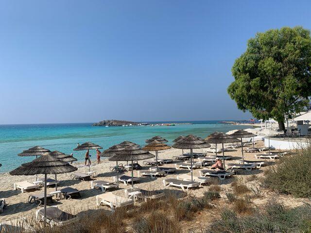 Cyprus juh pláž