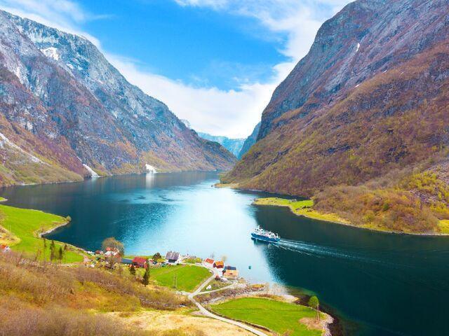 Fjord v nórsku