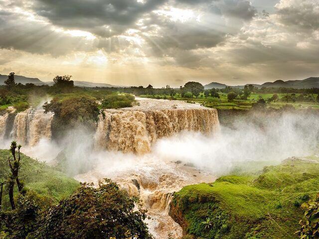 Vodopády v etiópii