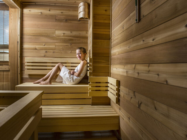 Dieťa v saune