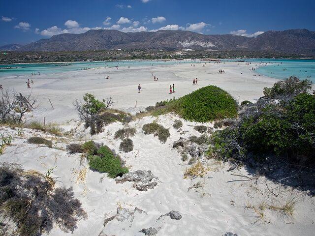 Pláž elefonsi na kréte