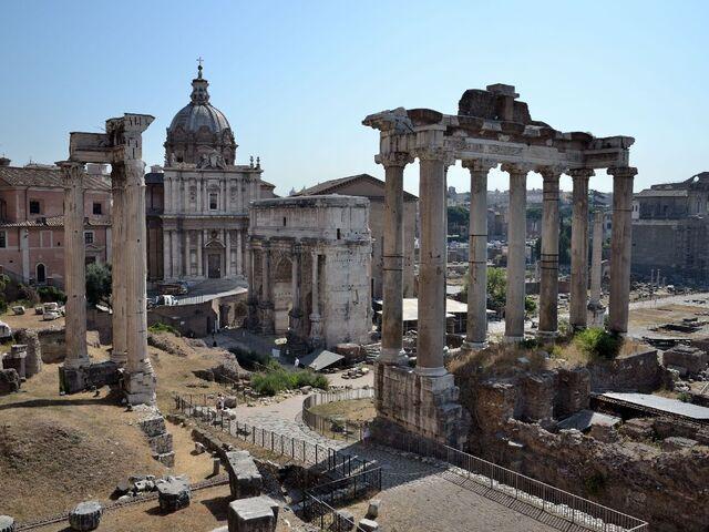Forum romanum v ríme v taliansku