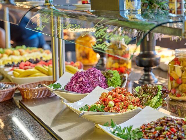 Výber zeleniny v hoteli