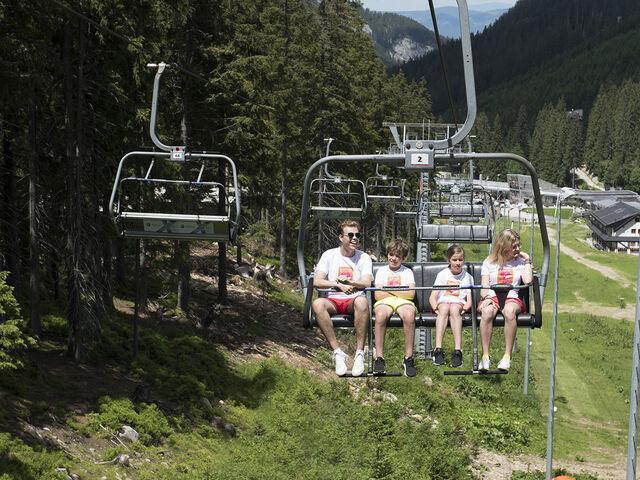 Na lanovke s deťmi