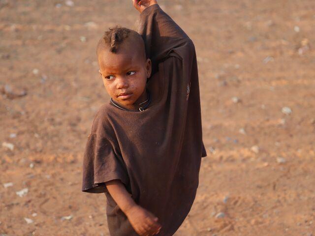 Dieťa v namíbii