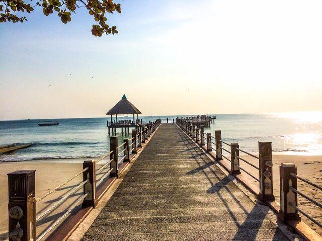 Pláž v kambodži