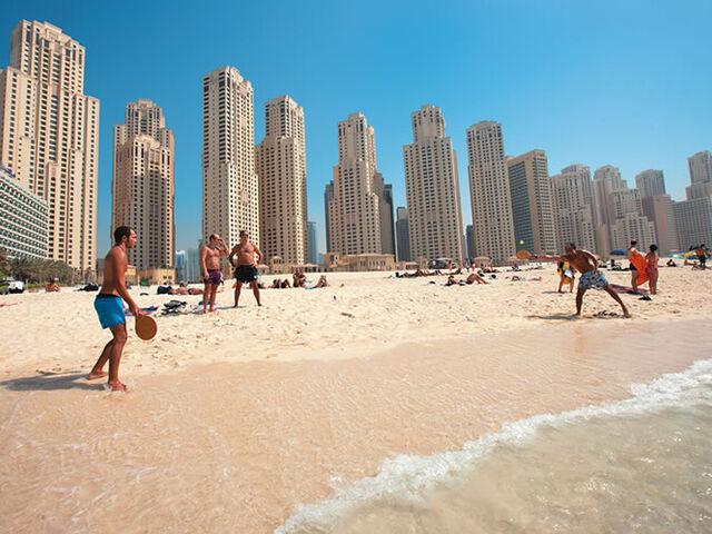 Pláž jumeirah v dubaji