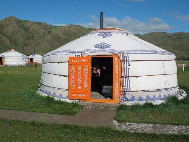 Jurta v mongolsku