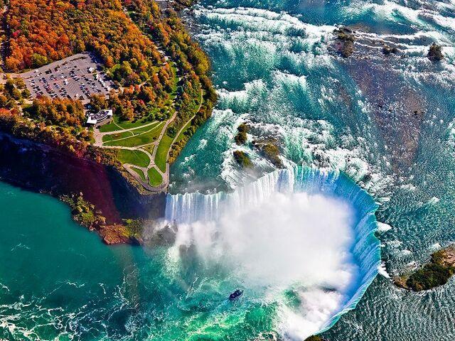 Niagarské vodopáy počas cesty okolo sveta