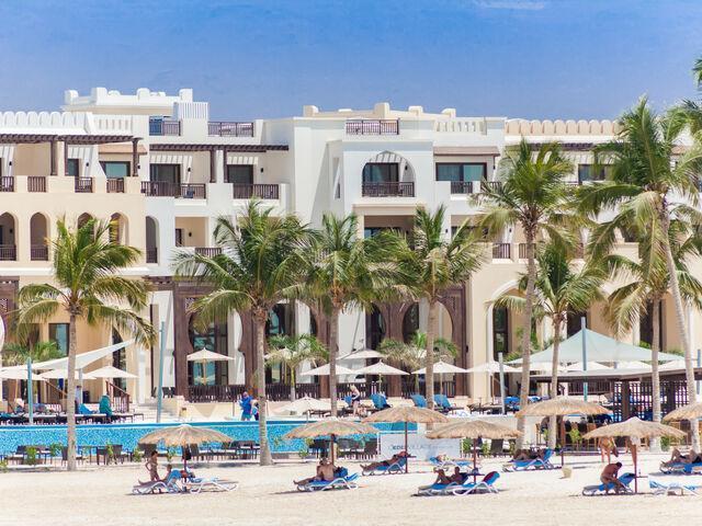Budova hotela fanar v ománe