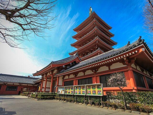Pagoda chrámu asakusa v tokiu