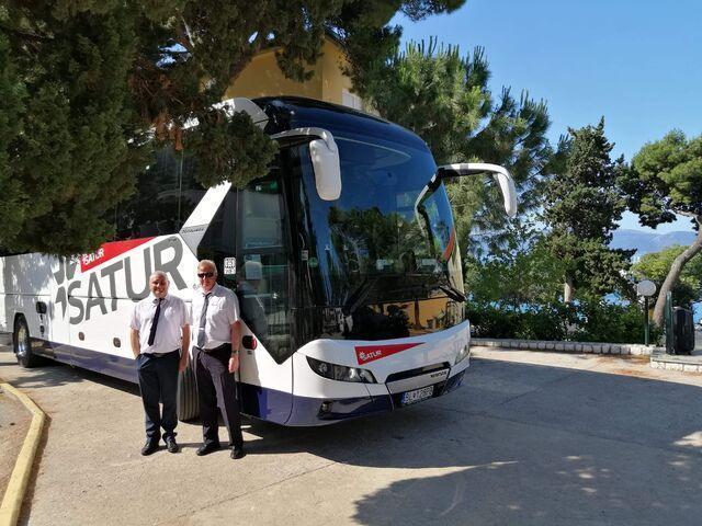 Šoféri autobusu ck satur v chorvátsku