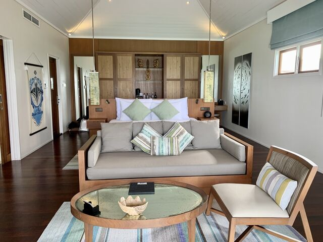 Izba hotela na maldivách