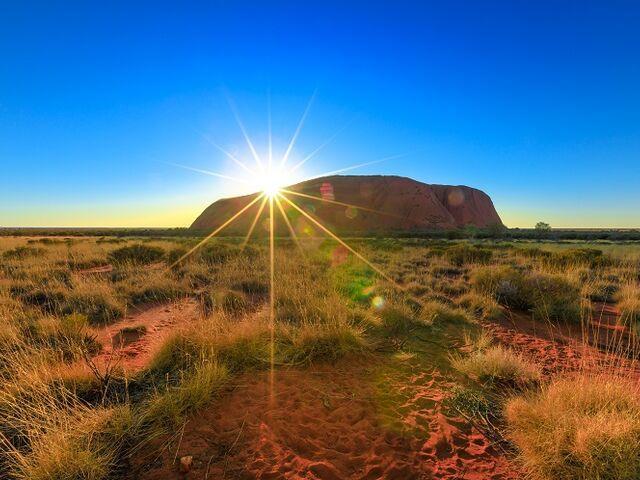 Austrálska hora uluru