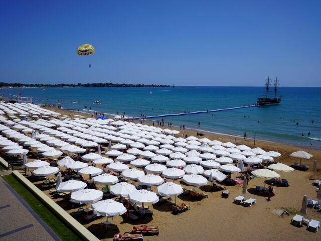 Pláž hotela side star elegance v turecku
