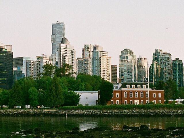 Panoráma mesta vancouver v kanade