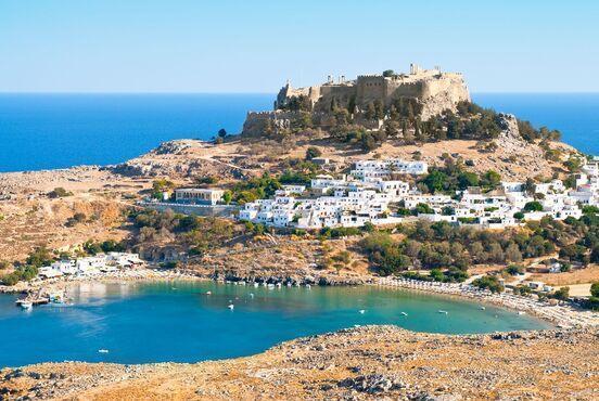 Lindos na rodose v grécku