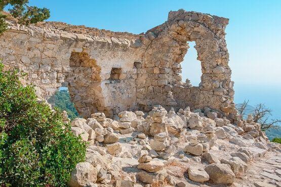 Monolithos na rodose v grécku