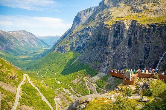 Veľká cesta trollov- Trollstigen, Nórsko