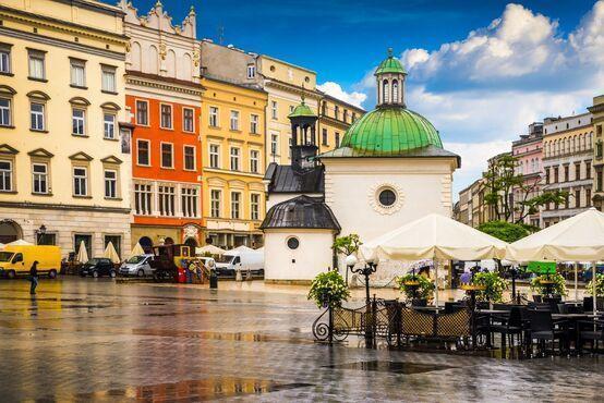 Hlavné námestie Krakova - Rynek Glowny, Poľsko