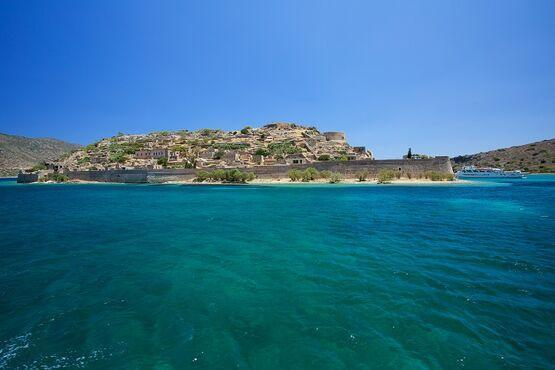Ostrov spinalonga na kréte
