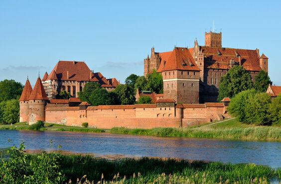 Hrad malbork v poľsku