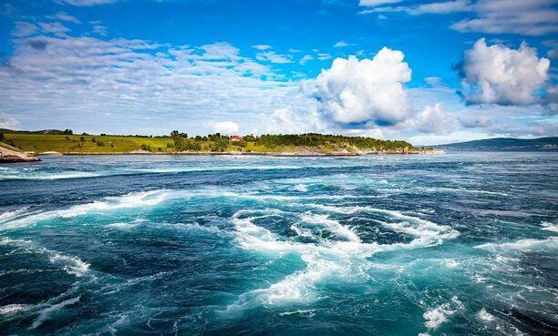 Saltstraumen - najsilnejšie morské prúdenie, Nórsko