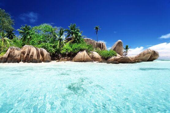 Najkrajšia pláž la dique na seycheloch
