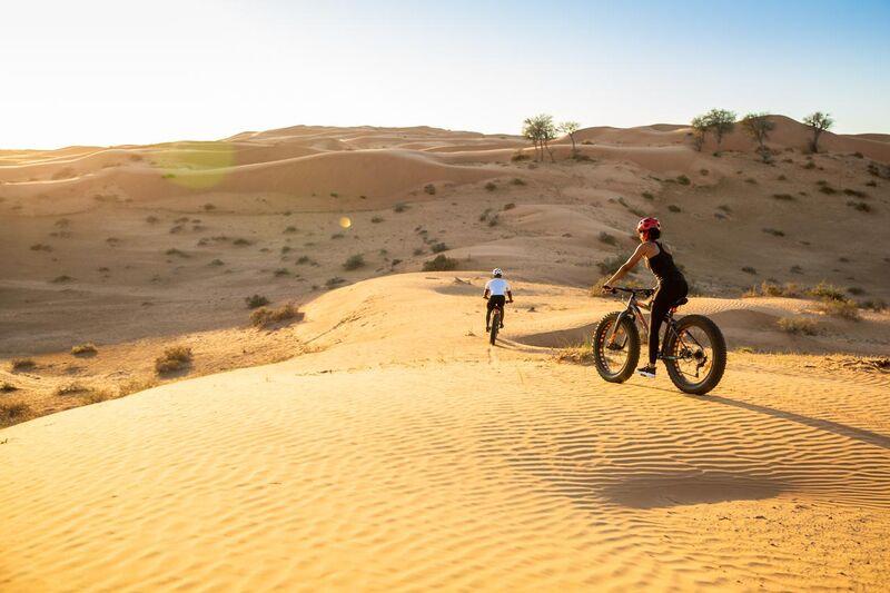 Bicyklisti na púšti