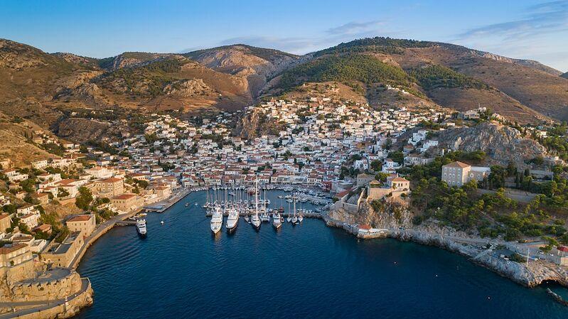 Ostrov hydra v grécku