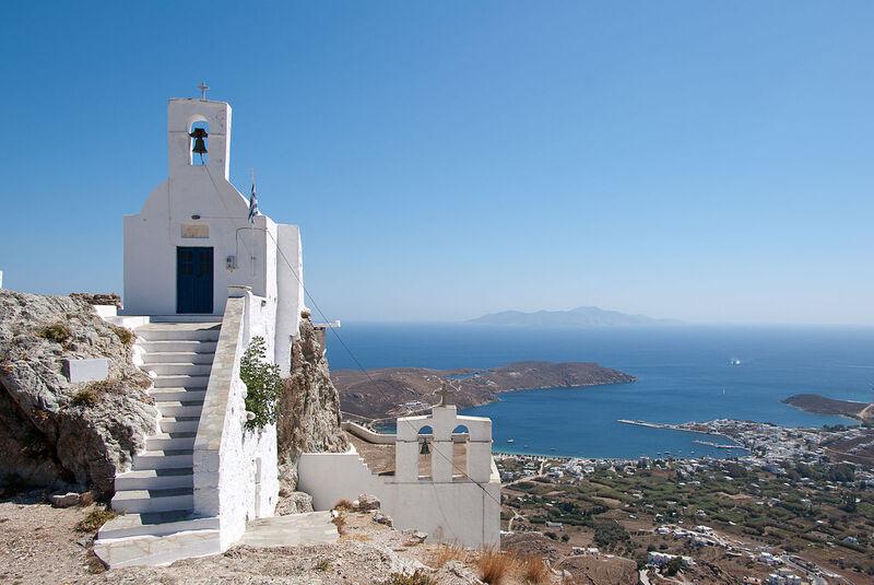 Ostrov serifos v grécku