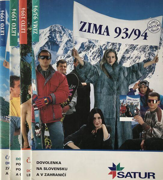Prvý katalóg satur z roku 1993
