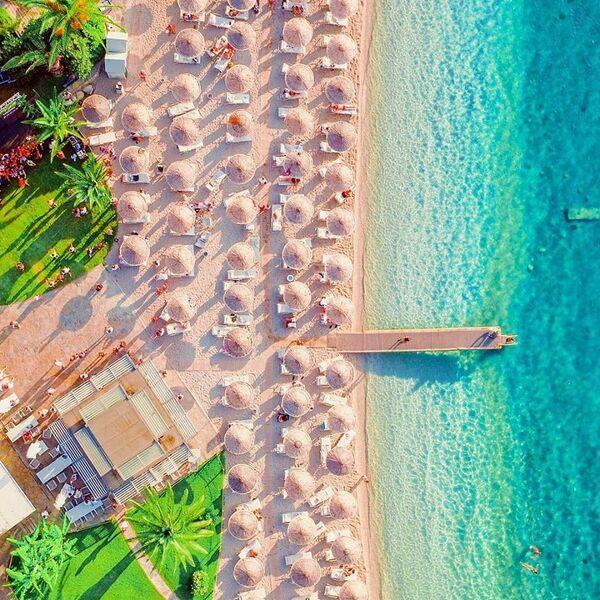 Pláž hotela hillside beach resort v turecku