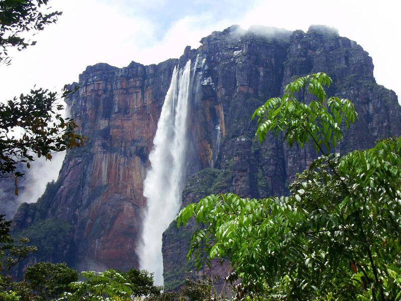 Angelov vodopád vo venezuele