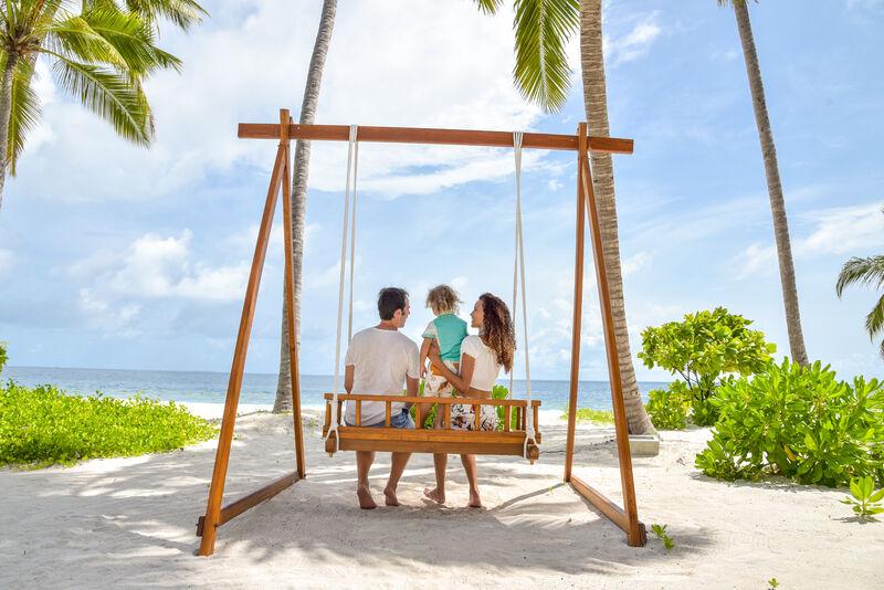 Rodinka na maldivách