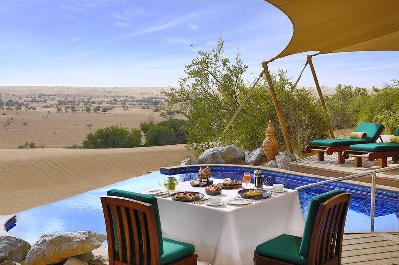 Raňajky v Al Maha na púšti