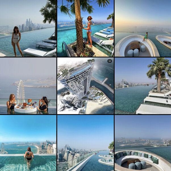 Address Beach Hotel infinity pool