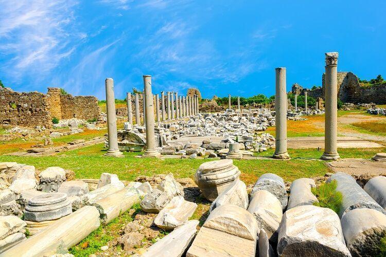 Antické pamiatky v side v turecku