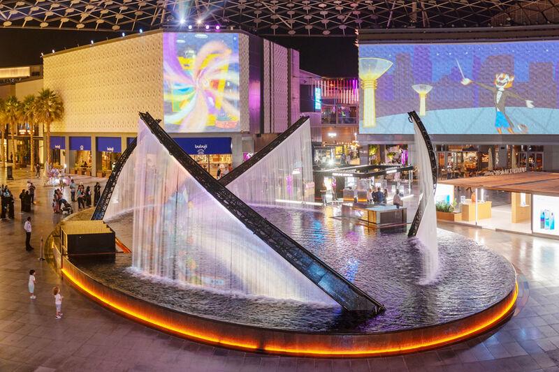 Pohľad na City Walk v Dubaji