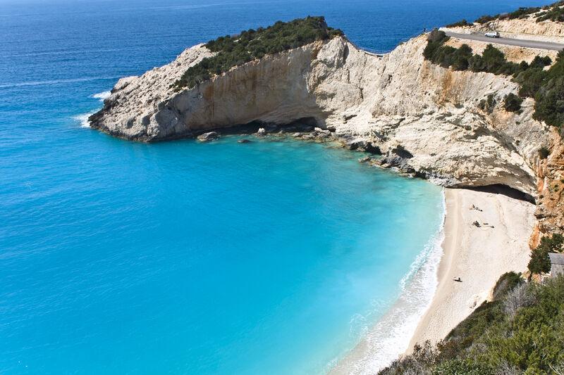 Ostrov lefkada v grécku