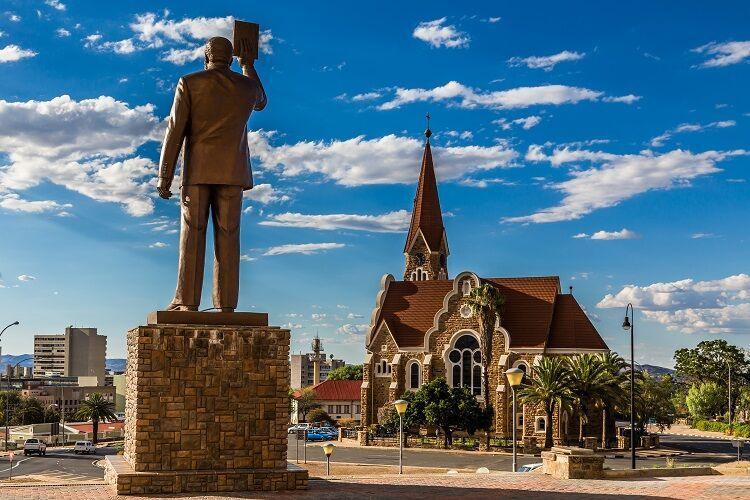 Hlavné mesto windhoek v namíbii