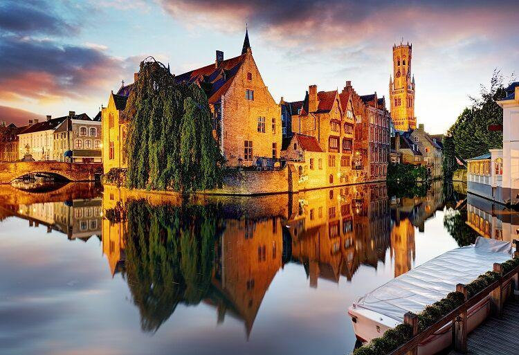 Mesto brugy v belgicku