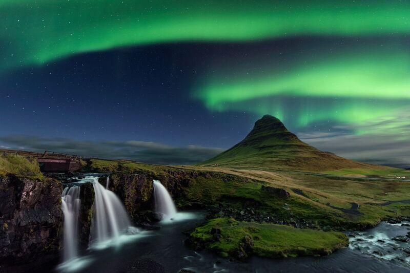 Polárna žiara v islande