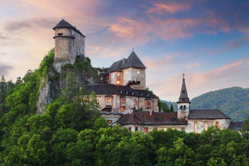Oravský hrad na slovensku